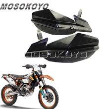 "Negro 22mm 28mm guardamanos 7/8 ""cepillo de mano de barra de guardias para KTM EXC EXF SMR Kawasaki KLX 150 Yamaha WR TTR 250"
