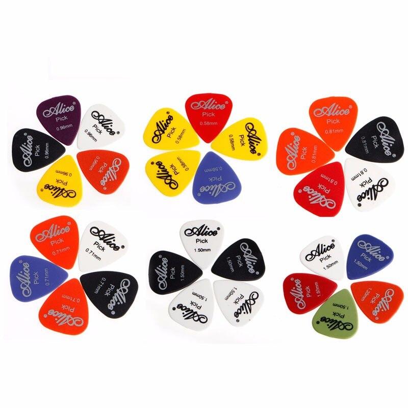 5 uds. De púas para guitarra eléctrica acústica, Plectrum, varios 6 espesores,...