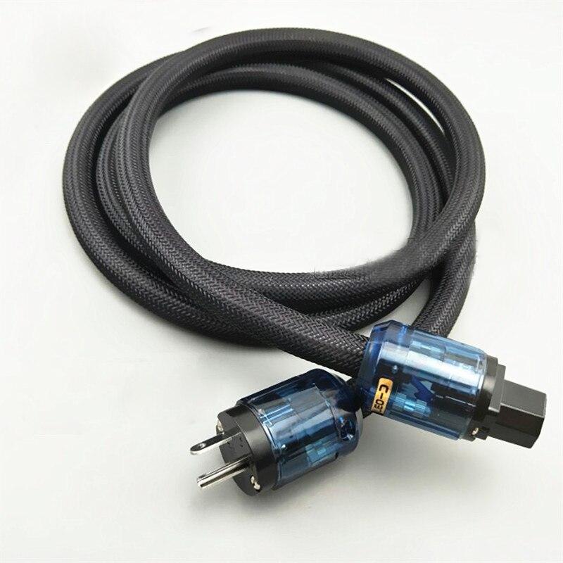 1Pcs 4N OFC Copper Hifi Audio US Power cord cable hifi AC Power cable US Power cable Preamplifier