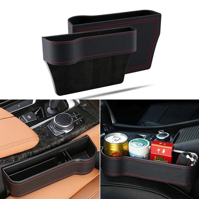 Almacenamiento de asiento de coche caja para los bolsillos de cuero auto, hueco, bolsillo para Skoda Octavia 2 A7 A5 rápido superb Mazda 6 Chevrolet Cruze