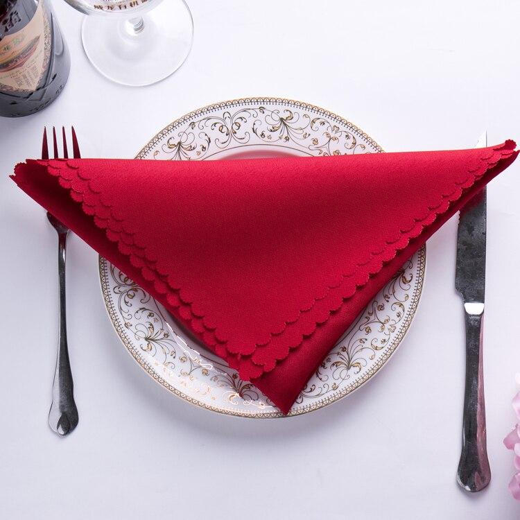 Servilletas de tela cuadrada de algodón de 48x48cm, pañuelo de bolsillo para decoración del hogar, bodas, Fiestas y Navidad, suministros para hoteles y fiestas