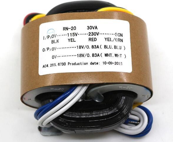 30W 30VA Primary Input 0-115-230V-SCN Secondary Output 9V 12V 15V 18V 24V R-core Transformer Audiophile