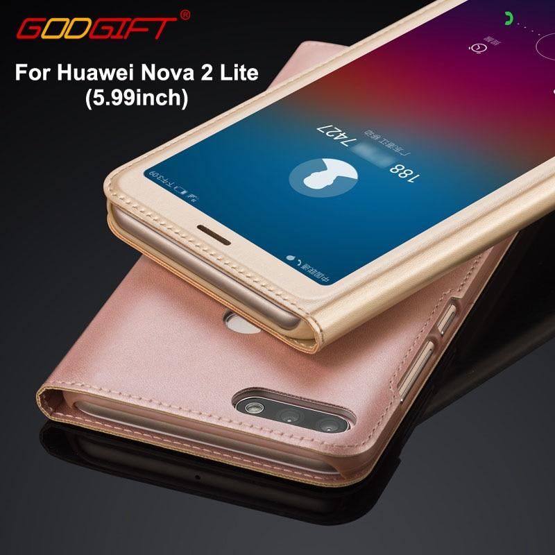 Funda GodGift Huawei Nova 2 Lite de lujo para Huawei Nova2 Lite, funda de piel sintética para Huawei Nova2Lite
