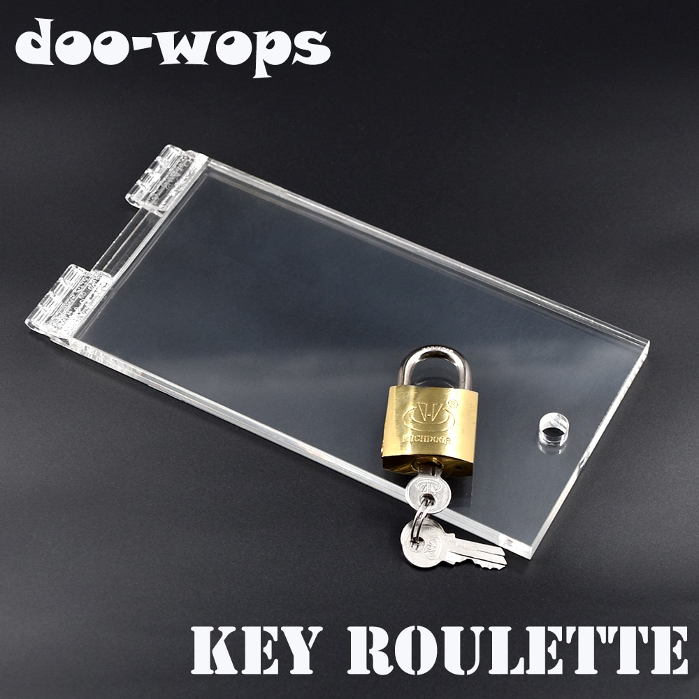 Key Roulette - Arcylic Magic Tricks Open Padlock Magia Magician Close Up Stage Illusions Gimmick Props Mentalism Comedy недорого