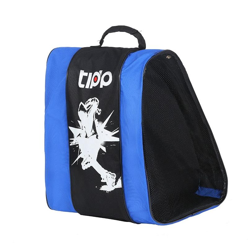 Portable Double Layer Ice Skating Shoes Bag Thick Roller Skate Bag Big Capacity Inline Roller Skate Shoes Handbag for Chlidred