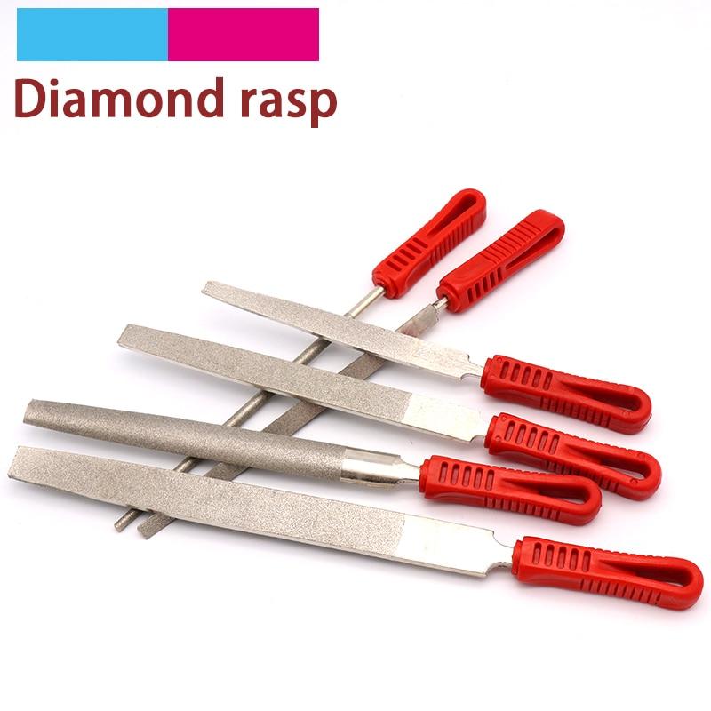 1 Uds., Lima de diamante de 6/8/10/12 pulgadas, escofina surtida, aguja de diamante, cuchillo para reparación de carpintería, joyería, herramientas para limar madera