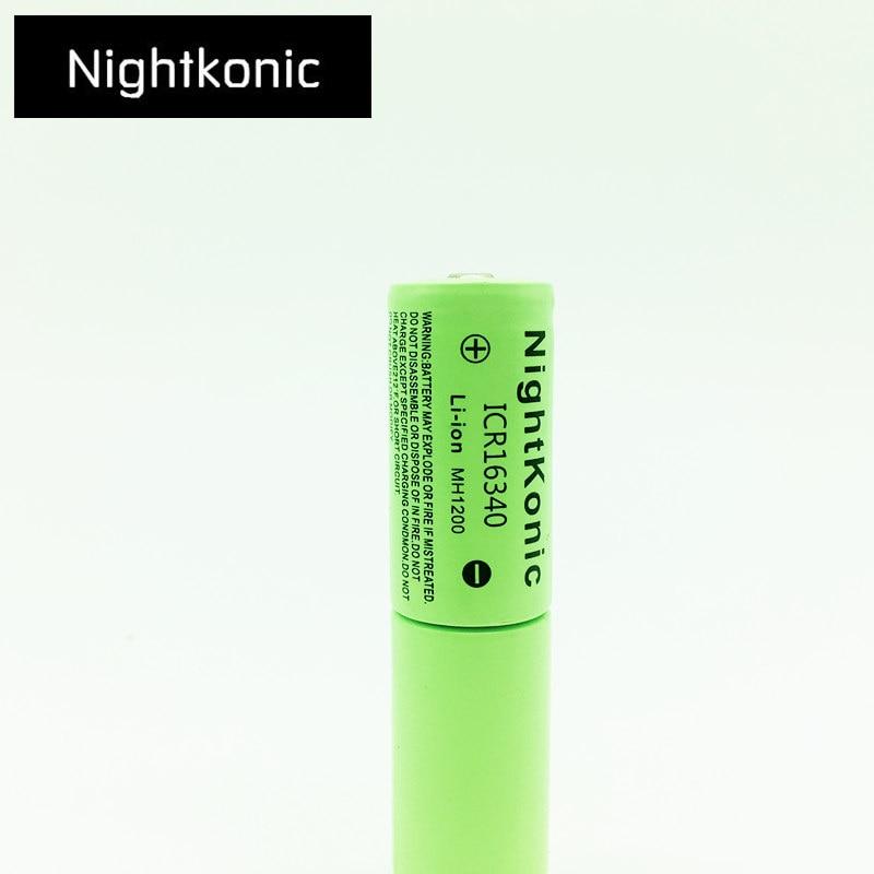 Высокое качество Nightkonic 1 шт./лот ICR 16340 аккумуляторная батарея 3 7 в литий ионный