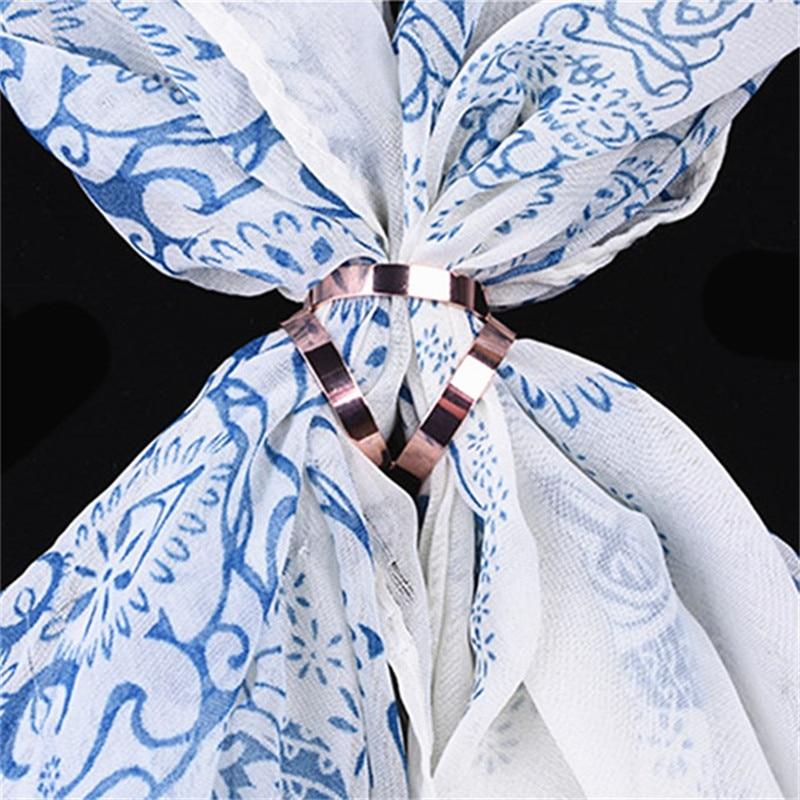 Lenço de seda jóias acessórios fivela xale redondo broches tricíclico cachecóis fivela luxo simples feminino menina festa presente