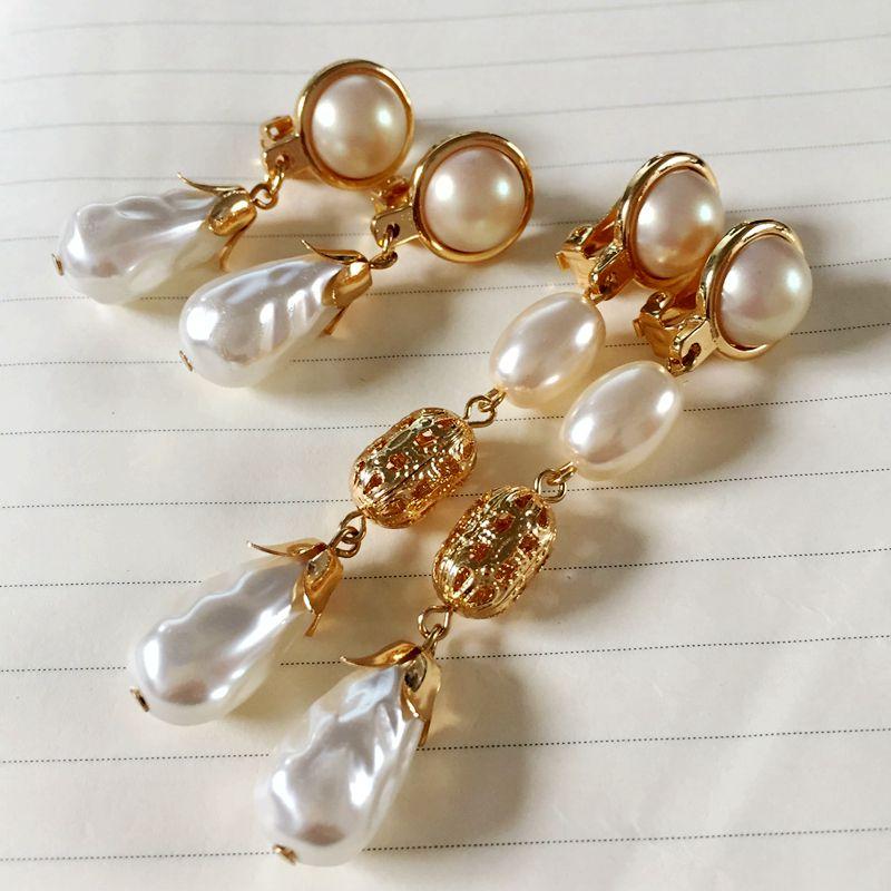 Free Shipping High Quality Pearl Elegant Women Cute Earring