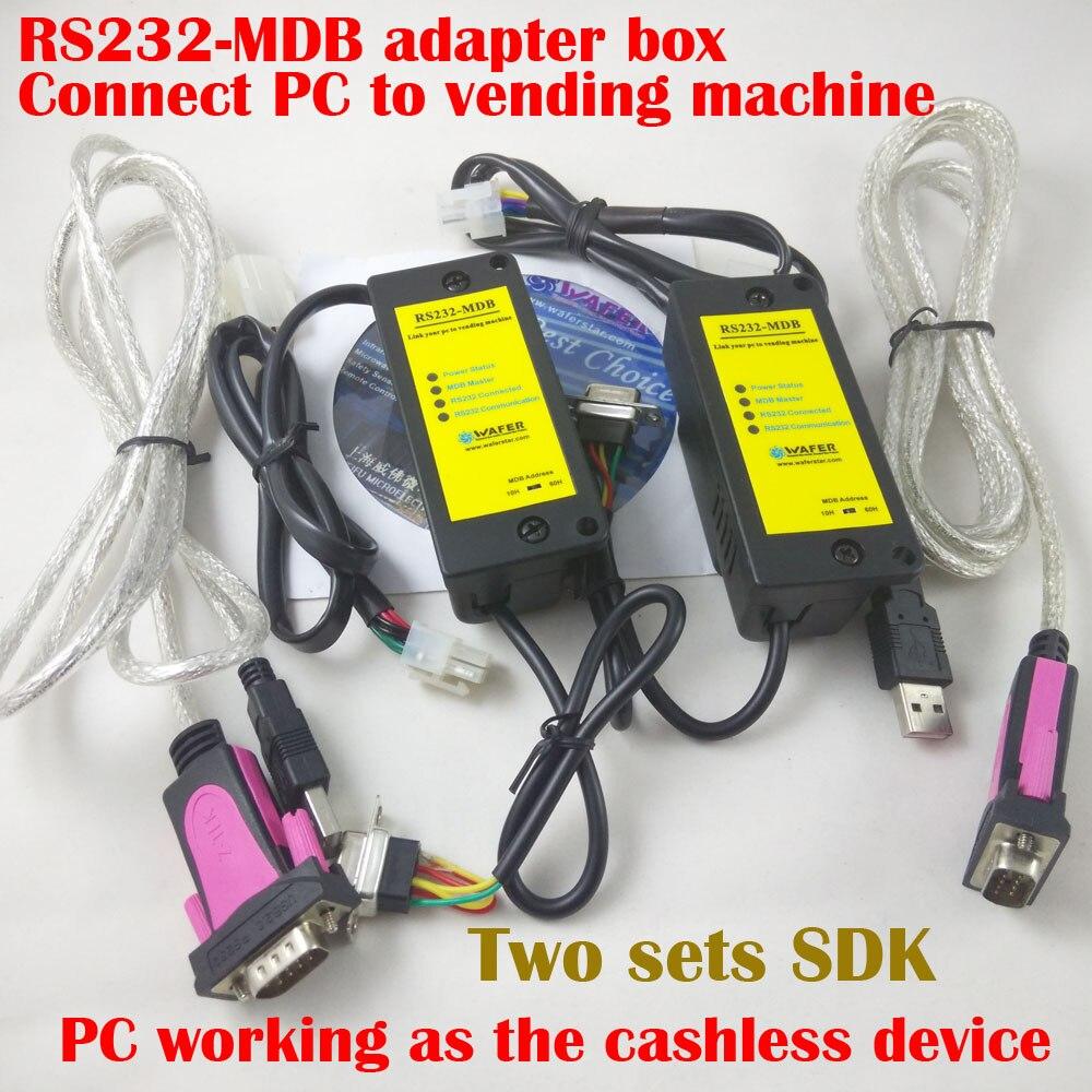 Caja adaptadora de PC a MDB, que funciona con aceptador de billetes y validador de monedas para el controlador de acceso de la máquina expendedora existente