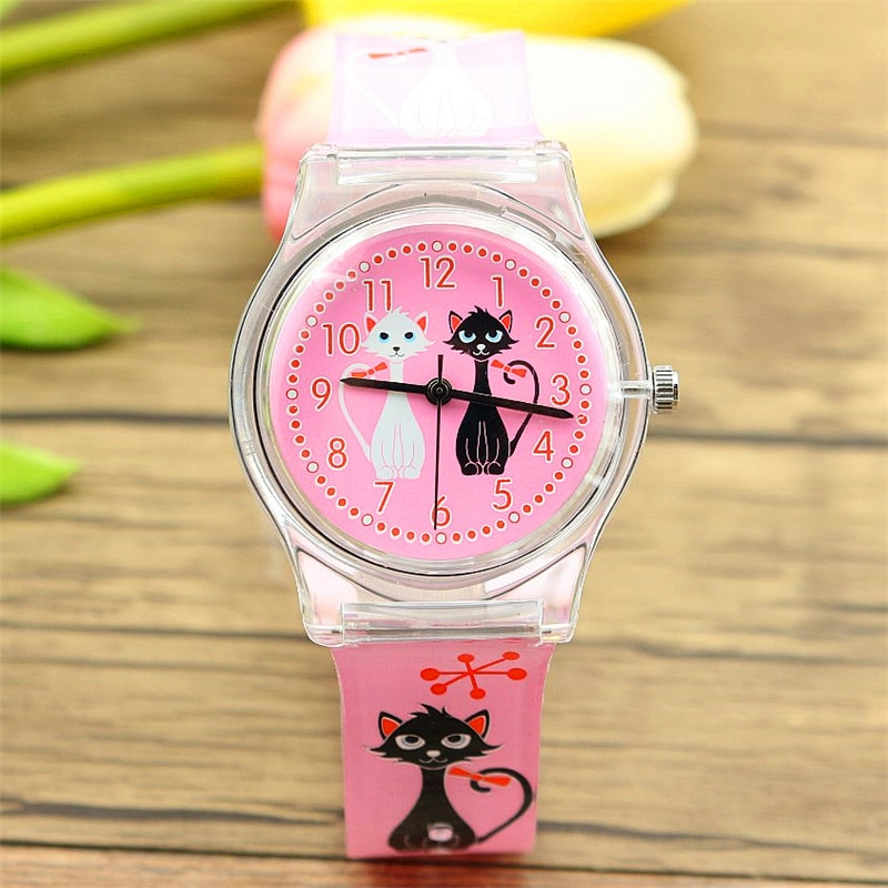 new arrived women girls lovely cartoon lover cat dial high quality quartz watch import movement and