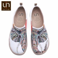 uin ganesha design painted canvas sneakers for women casual shoes trendy slip on loafers fashion travel flats