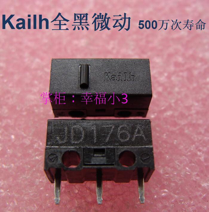 10 unids/lote a estrenar Kaih mouse Micro interruptor para A4tech lofair Botón de ratón Original puntos negros