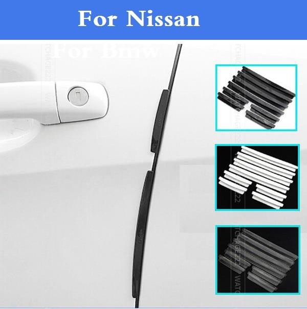 Nuevo protectores de borde de puerta de coche moldura arañazos Protector para Nissan 350Z 370Z AD Almera clásico Altima Armada Avenir Juke Nismo