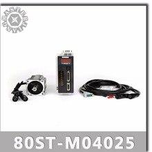 Servomotor CA 80ST-M04025 220V 1000W 4 n.m 2500RPM 1KW servomotor monofásico AC drive imán permanente emparejado conductor AASD-20A