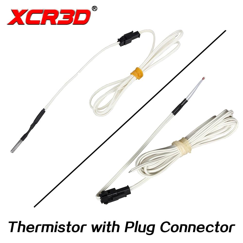 XCR3D 3D принтер Часть 100k ohm B3950 NTC термистор датчик температуры HT-NTC100K 1 м 1,5 м 2 м кабель с разъемом