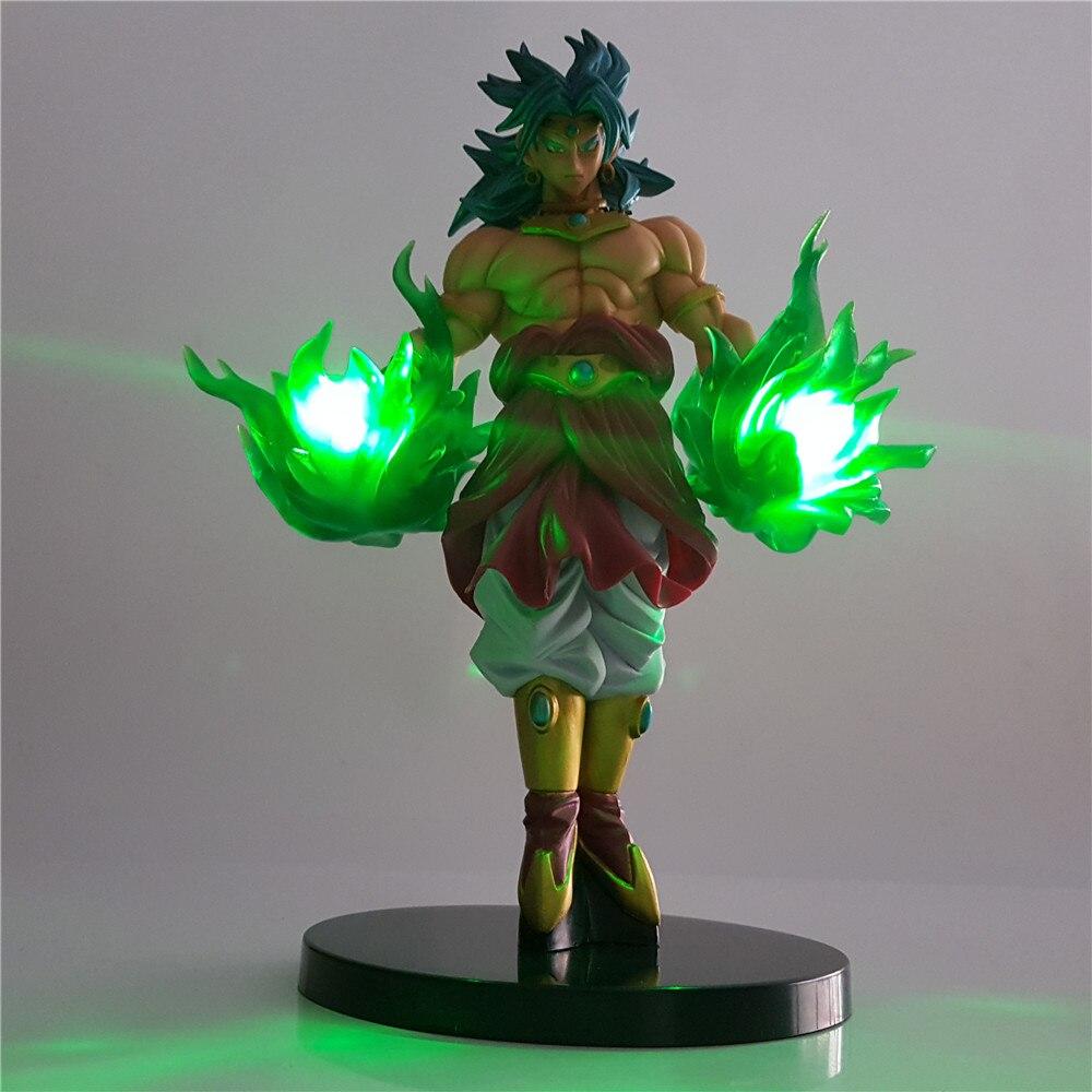 Dragon Ball Z figuras de acción de Broly Brinquedo verde efecto DIY LED luz de la bola del dragón del Anime Super Saiyan Broly modelo coleccionable