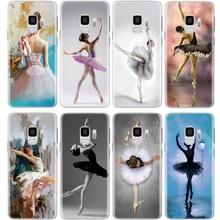 Fille de Ballet Pour Samsung Galaxy S5 S6 S7 Bord S8 S9 Plus Note 8 9 A3 A5 A6 A8 J2 J3 J5 J7 Premier 2016 2017 2018 Coque Housse
