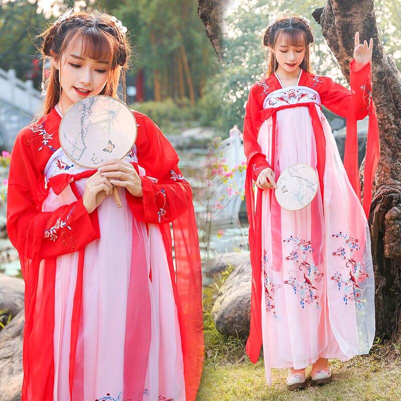 النساء التقليدية تانغ سلالة الصينية القديمة زي المرأة فستان رقص الأميرة هان سلالة الصينية Hanfu الملابس DWY1165