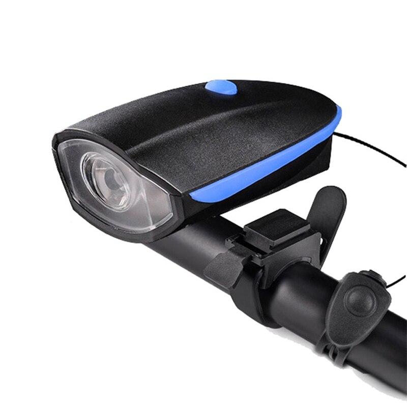 Rueda arriba bicicleta luz eléctrica cuerno USB carga 240 lumen IPX4 ciclismo Flash-ligh bicicleta noche montar advertencia accesorios de claxon