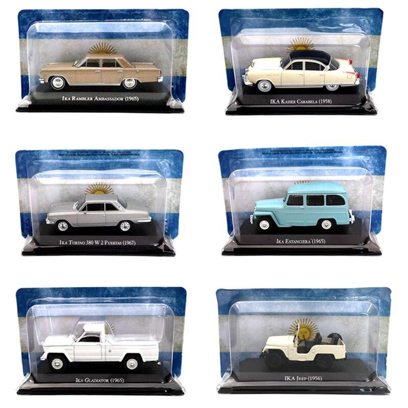 Lotes de IXO Altaya 1:43 Jeep IKA Rambler Embaixador Estanciera Bergantin Torino Em Miniatura Modelos Diecast Brinquedos Coleção de Carros