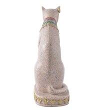 Grès égyptien Mau chat Statue Sculpture sculpté à la main Figurine de collection