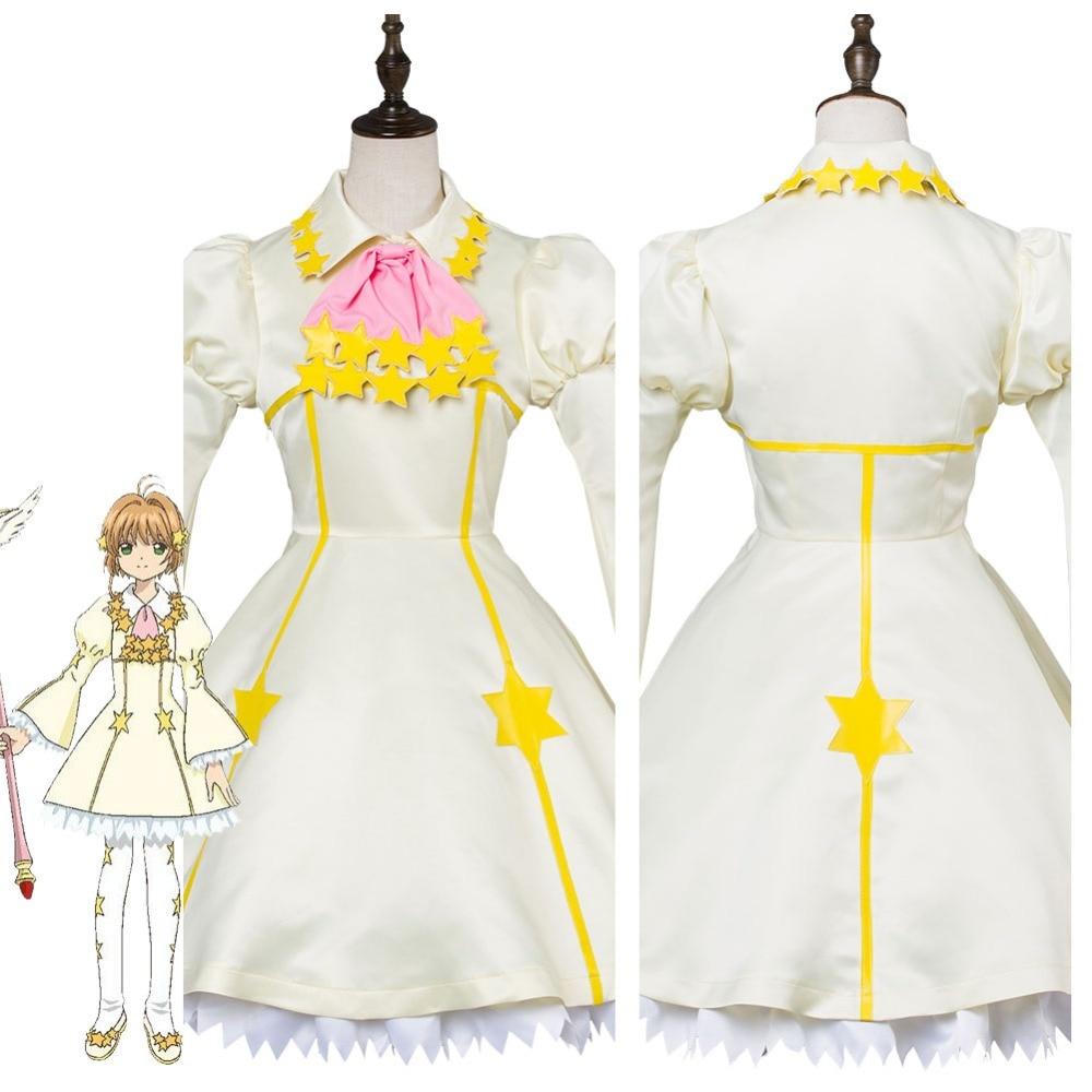 Cardcaptor Sakura Cosplay Cardcaptor Sakura Kinomoto Sakura Cartão Claro Estrela Batalha Vestido Cosplay