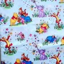 아름 다운 코 튼 원단 푸우/코끼리/꽃 인쇄 패브릭 바느질 소재 패치 워크 diy 아기 드레스/의류 110 cm 와이드
