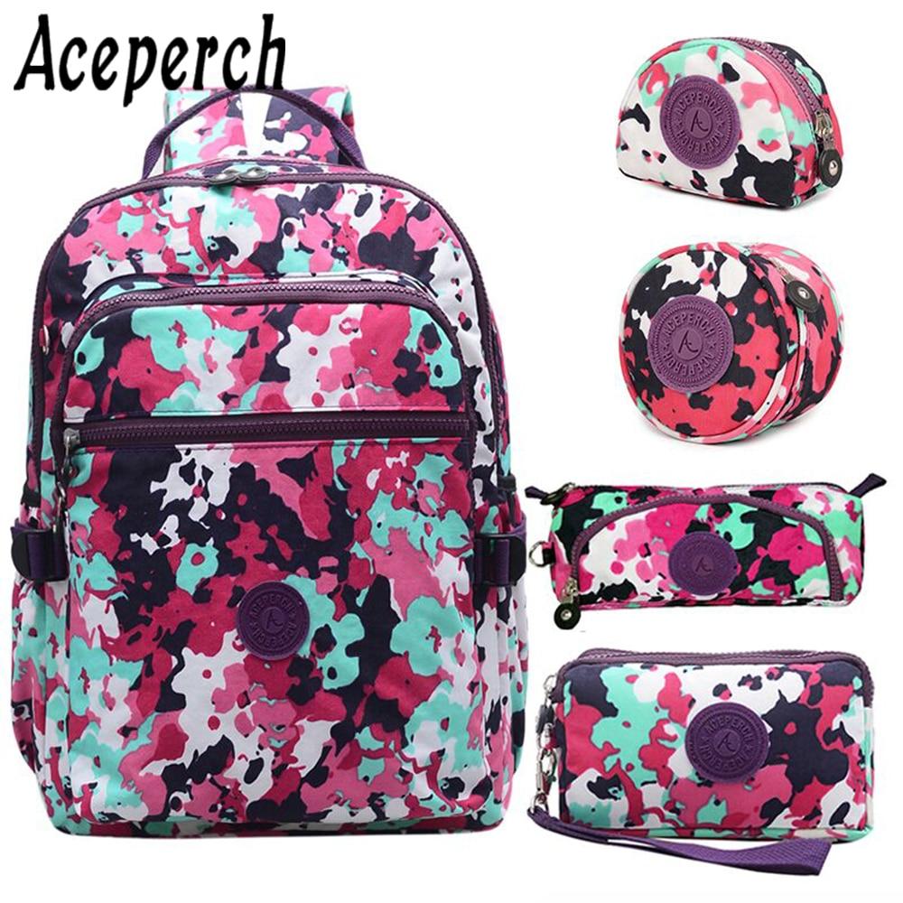 Dropshipping Girl Wallets Women School Wallet for Teenage Girls Mochila Feminina Boys Laptop Mochila Kids Bags sac a dos