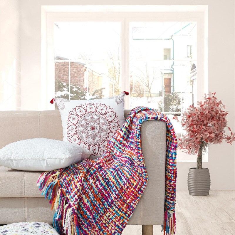 Manta de hilo BBJ para sofá manta de verano para traje de silla para niños adultos 130*160 cm