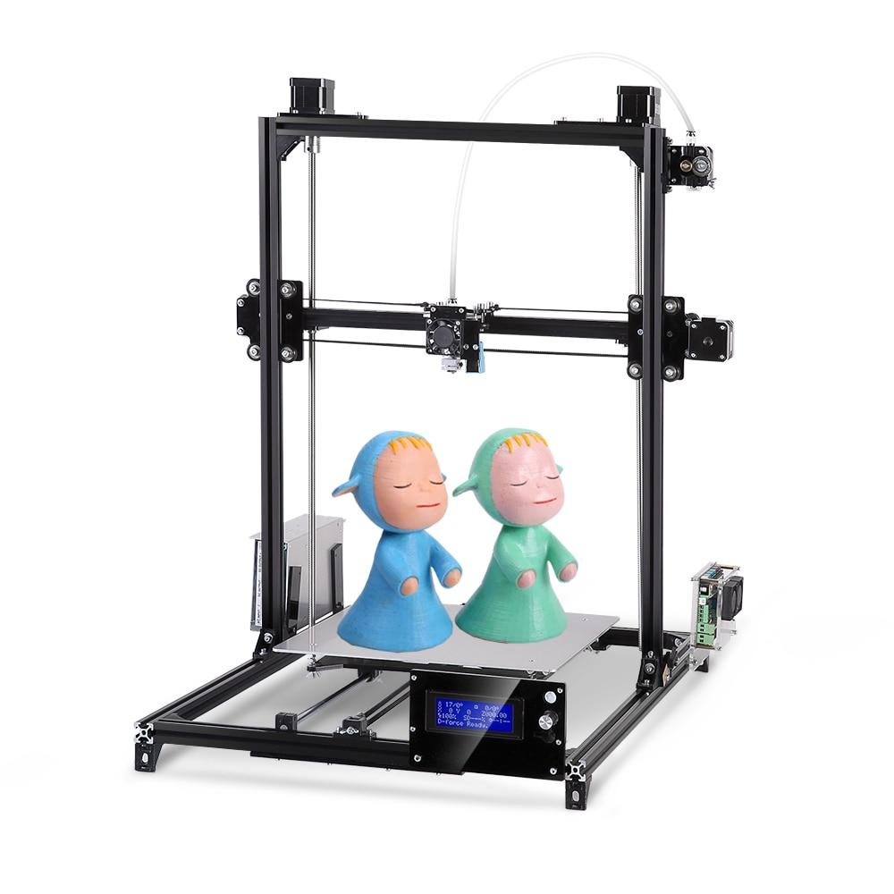 Большой размер печати Flsun I3 3d принтер 300*300*420 мм металлическая рамка автоматическое выравнивание DIY 3D принтер набор ЖК-экран с подогревом кровати