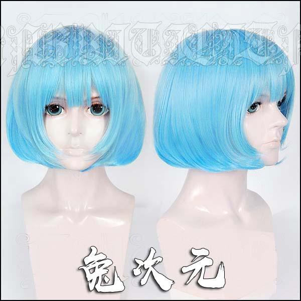 Juego Dead Or Alive NiCO peluca Cosplay azul Bob corto resistente al calor pelo sintético + tapa de la peluca