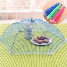 Grande maille pliable parapluie couverture alimentaire Anti mouche moustiquaire tente pour pique-nique Barbecue fête sport cuisine accessoires