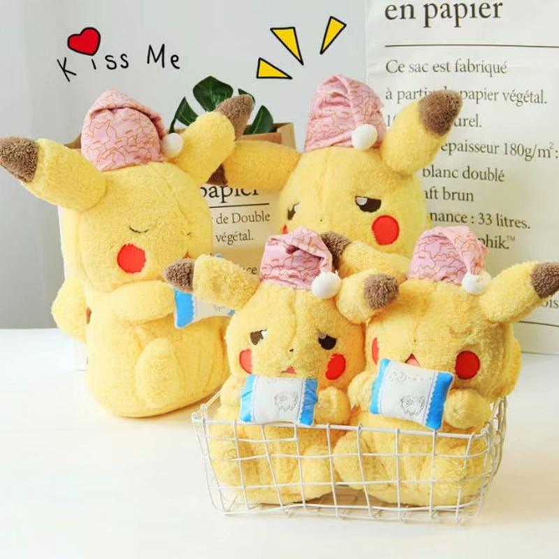high quality Sleeping Pikachu Plush Toys Collection Ryme Pikachu Plush Doll Toys For kids toys Christmas Gift