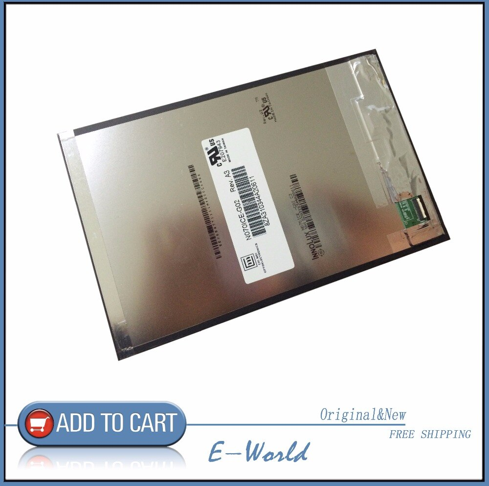 Original 7 polegada N070ICE-G02 C3 IPS tela LCD para Asus Pad MeMO 7 ME176 ME176CX FE375 FE7530CXG K019 frete grátis