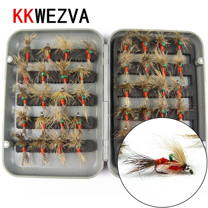 yazhida global fly fishing fans flies collection plan KKWEZVA 40pcs Fishing Lure Butter fly Insects Style Salmon Flies Trout Single Dry Fishing fly Lures Fishing Tackle