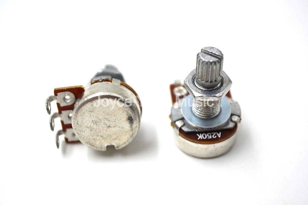 Niko 10pcs A250K/A500K/B250K/B500K ELectric Guitar Volume Tone Pots Audio Tone Switch Long Split Sha