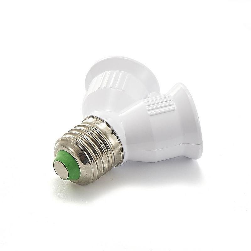100 Uds E27 a E27 portalámparas E27 Adaptador Doble convertidor Base de lámpara enchufe LED Bombilla extender enchufe