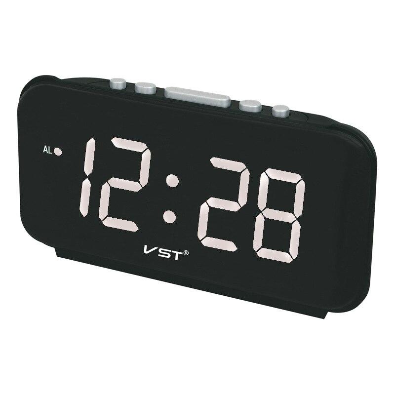 Бесплатная доставка цифровые светодиодные часы-будильник электронные часы настольные AC Power EU Plug/US Plug настольные часы с 4 вида цветов дисплее...