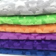 Tissu polaire Minky gaufré   Étoiles, Micro vison, bricolage, tissu de couverture cousue de 1 mètre