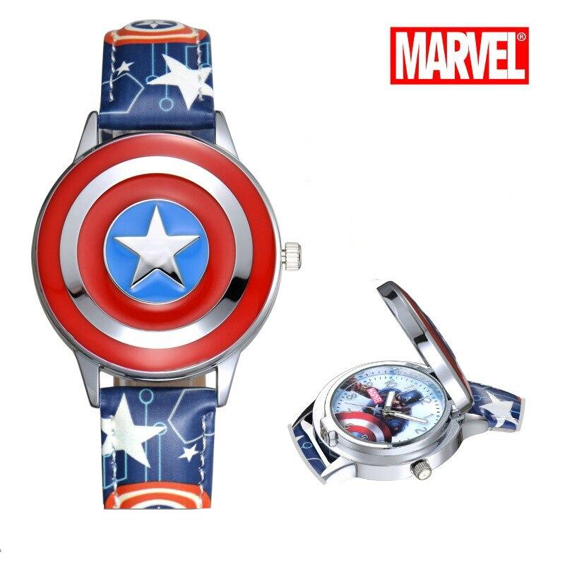 Reloj MARVEL Avenger Alliance dibujos animados niños estudiantes capitán Relojes