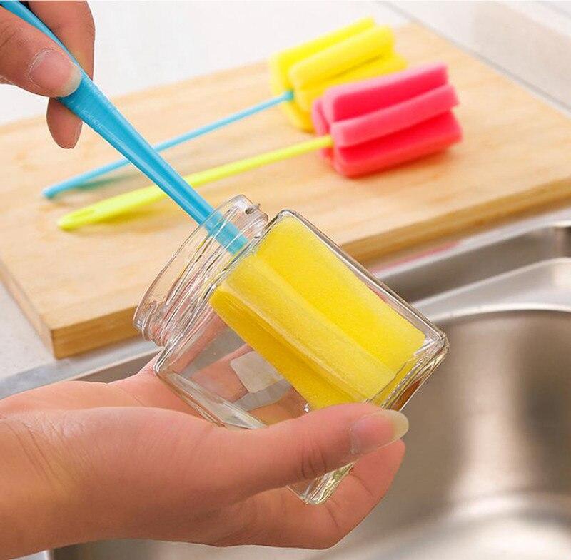 1 шт кухонные чистящие инструменты губка щетка для бокалов бутылка кофе чай стеклянная чашка