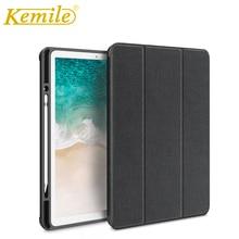 Kemile Case For ipad Pro 12.9 Drop resistance TPU+PU W Pencil Holder Smart Auto Sleep Wake Cover For iPad Pro 12.9 inch Case