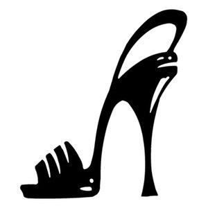 13cm*15cm High Heel Stiletoo Shoe Cartoon Fashion Personality Creative Classic Attractive Car Styling Car Sticker Vinyl