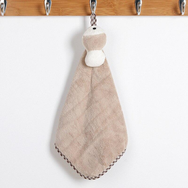 1 ud. De toalla de mano de secado rápido de absorción de agua de color caqui, toalla creativa de fibra de poliéster para baño, cocina, sala de estar, oficina, toallas de mano