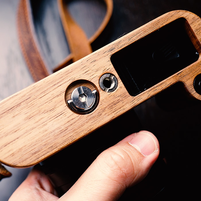 Original Wooden Quick Release L Plate / L Bracket Hand Grip Holder Perfect  Fit For Leica Q Series enlarge