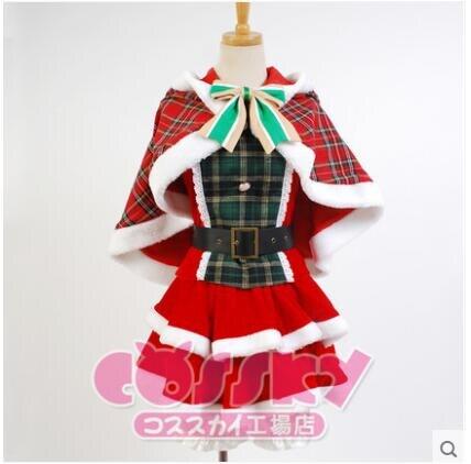 Love Live Hanayo Koizumi Cosplay Costume Christmas Dress 2017 NEW Free Shipping +Socks+Headweaer O