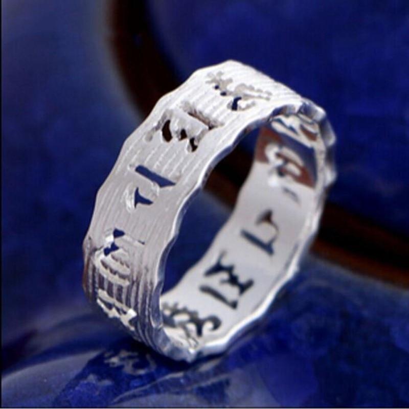 Полые золотые женские кольца в виде Будды, серебряные ювелирные изделия, тайские серебряные необаллергические Открытые Кольца SR208