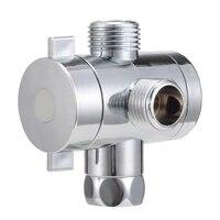 Adaptateur t-valve de derivation 3 voies 1 2   reglable  monte sur le bras de la pomme de douche  accessoire materiel de salle de bain