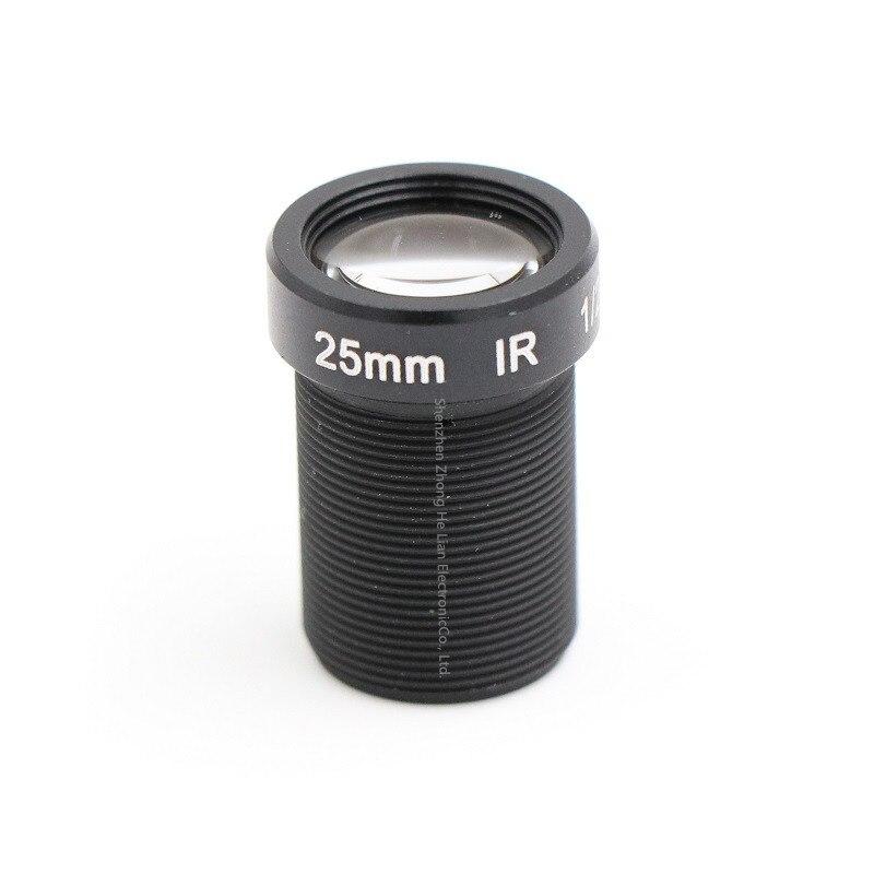 Lente de 25mm 5,0 megapíxeles MTV M12 x 0,5 lente infrarroja de visión nocturna para cámara de seguridad CCTV